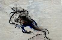 2011, Kohle und Acryl auf Packpapier, 44 x 62 cm