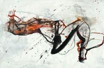 2011, Kohle, Acryl und Tusche auf Packpapier, 44 x 62 cm
