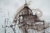 """""""Petersdom in Rom"""" / Italien, 2012 ,Tusche auf Papier, 46 x 66 cm"""