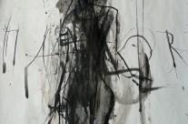 """""""Göttin Hathor"""" / Ägypten, 2008, Kohle und Tusche auf Papier, 45 x 31 cm"""
