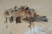 """""""Meerestempel auf Bali"""" / Indonesien, 2010, Stabiloton und Acryl auf handgeschöpftem Reisstrohpapier, 49 x 64 cm"""