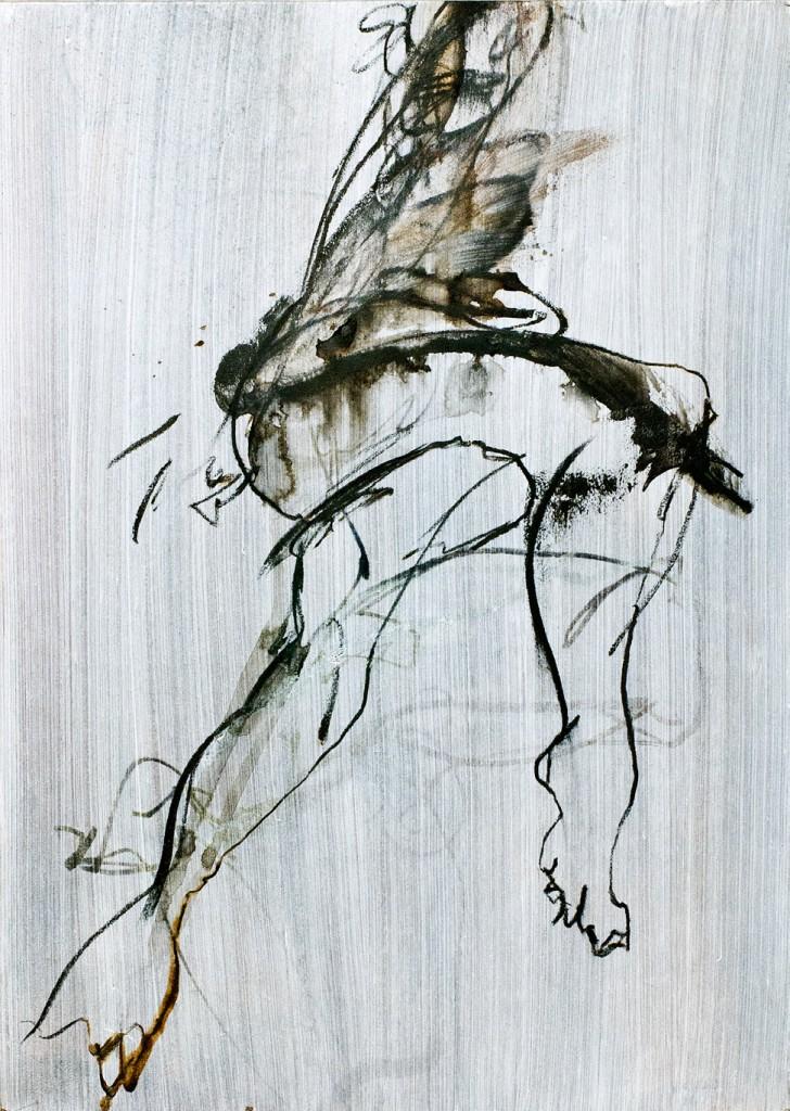 2006, Kohle und Acryl auf Naturpapier, 70 x 50 cm