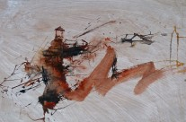 """Assisi"" / Italien, 2010, Tusche auf Packpapier, 44 x 62 cm"