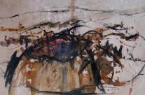 """""""Vulkanlandschaft auf Lanzarote"""" / Spanien, 2011, Mischtechnik auf Naturpapier, 34 x 50 cm"""