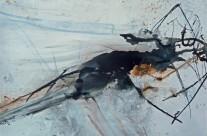 2013, Tusche auf grundiertem Packpapier, 50 x 70 cm