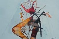 2013, Tusche auf Papier, 44 x 63 cm