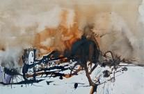"""""""Dom in Florenz"""" / Italien, 2013, Tusche auf Papier, 30 x 42 cm"""