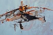 """""""Saint Paul de Vence"""" / Frankreich, 2013, Tusche auf Papier, 44 x 62 cm"""