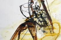 2015, Farbstift und Tusche auf Papier, 42x30cm