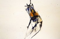 Farbstift und Tusche auf Papier, 30 x 42 cm, 2019