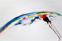 Farbstift und Tusche auf Papier, 44 x 63 cm, 2017