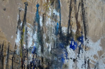 """Kathedrale Familia Sagrada in Barcelona""/Spanien: Mischtechnik auf Papier, 63 x 44 cm"
