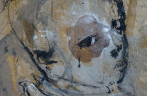 """Kinderporträt""/Ghana: 2012, Mischtechnik auf Papier, 89 x 63 cm"
