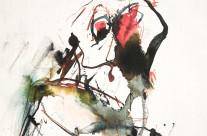Farbstift und Tusche auf Papier, 42 x 30 cm, 2018