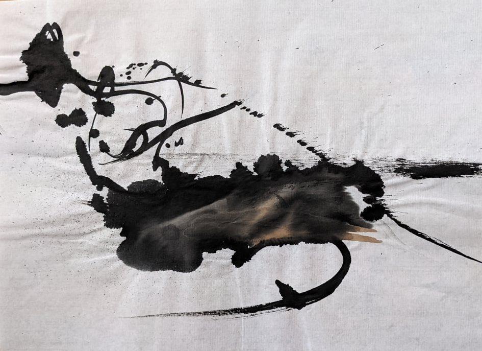 2021, Tusche auf chinesischem Xuan-Papier, 25 x 34 cm