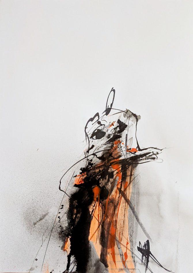 2021, Tusche auf Papier, 42 x29 cm